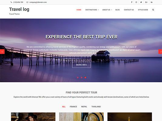responsives-gratis-wordpress-theme-Travel-log