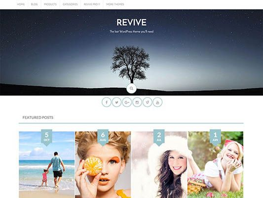 templates wordpress gratiss revive