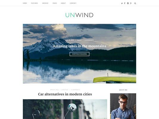 themes wordpress para blog gratis unwind