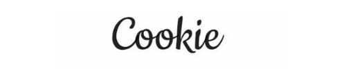 Cookie tipografías bonitas