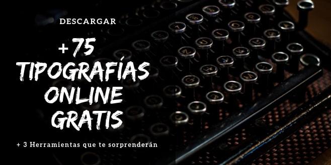 descargar tipografías online gratis