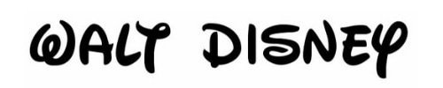 walt disney tipo de letra